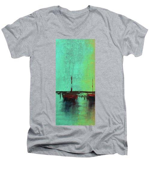 Mystic Bay Triptych 1 Of 3 Men's V-Neck T-Shirt