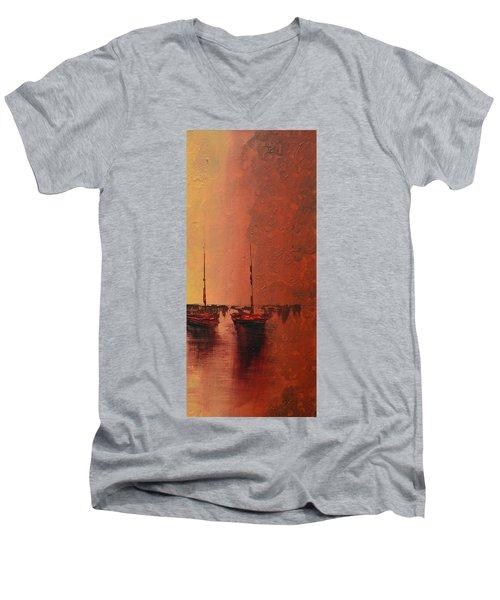 Mystic Bay Triptych 3 Of 3 Men's V-Neck T-Shirt