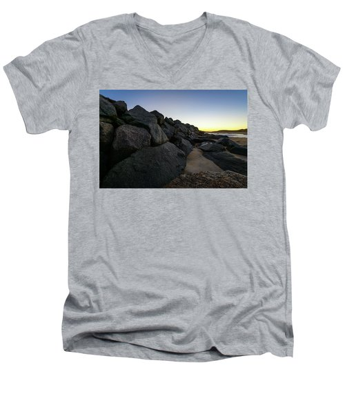 Mystic Beach Men's V-Neck T-Shirt
