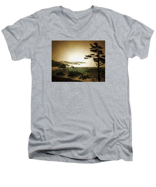 Mystic Landscapes Men's V-Neck T-Shirt by Mario Carini