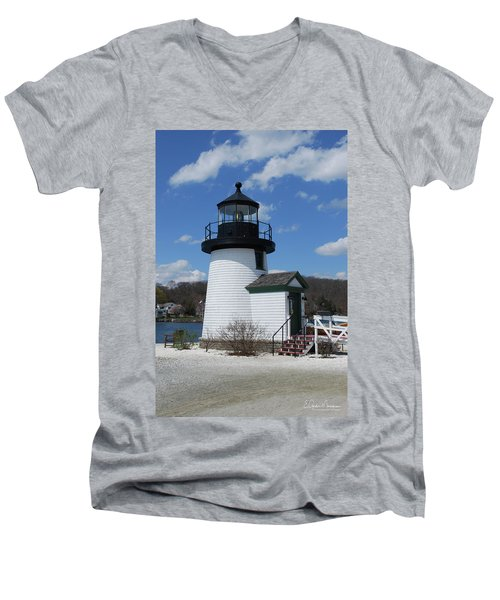 Mystic Lighthouse Men's V-Neck T-Shirt