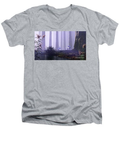 Mystical Forest Men's V-Neck T-Shirt