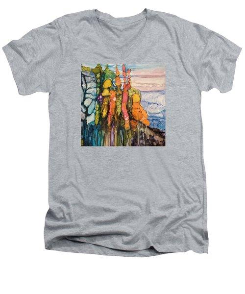 Mystical Garden Men's V-Neck T-Shirt by Suzanne Canner