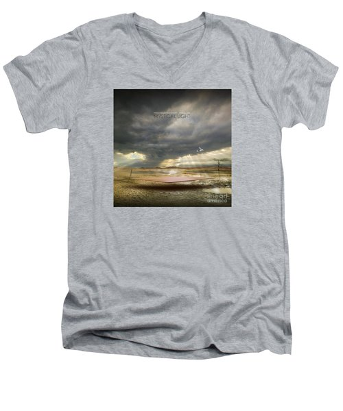 Men's V-Neck T-Shirt featuring the digital art Mystical Light by Franziskus Pfleghart