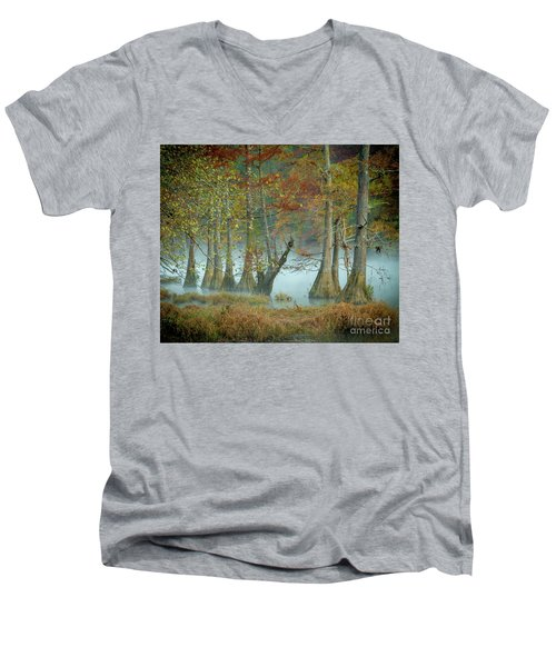 Mystical Mist Men's V-Neck T-Shirt by Iris Greenwell