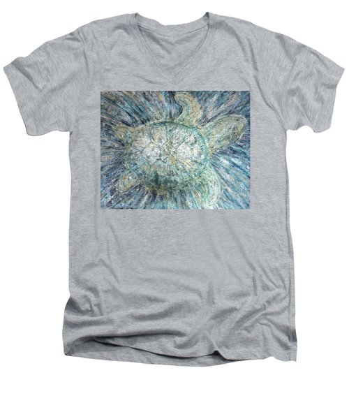 Mystical Sea Turtle Men's V-Neck T-Shirt