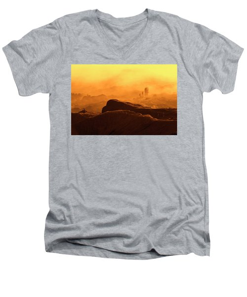 mystical view from Mt bromo Men's V-Neck T-Shirt