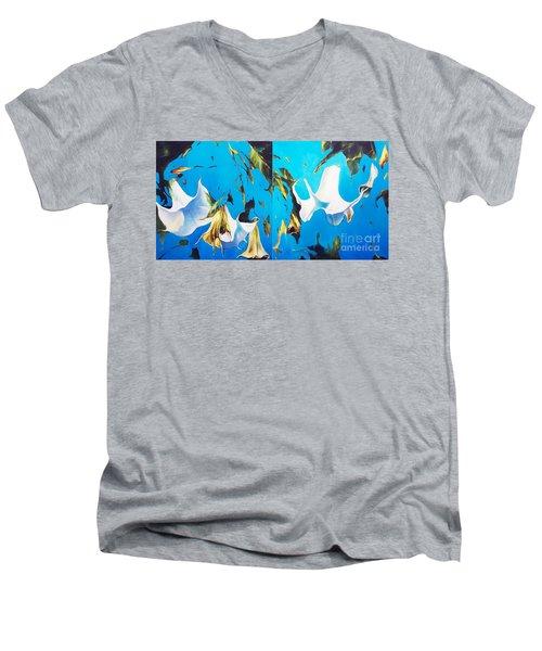 Mysticoblue Men's V-Neck T-Shirt