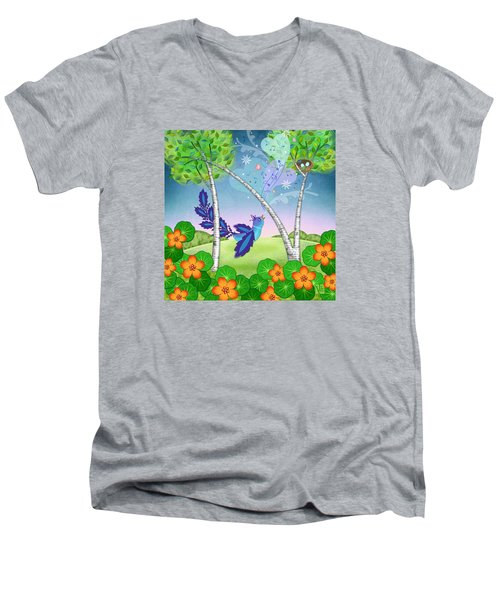 N Is For Nightingale Men's V-Neck T-Shirt