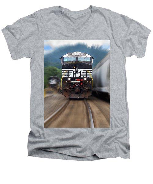 N S 8089 On The Move Men's V-Neck T-Shirt