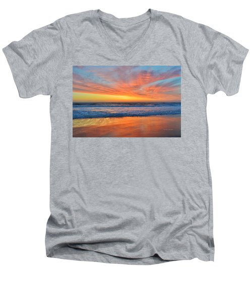 Nags Head Sunrise  Men's V-Neck T-Shirt