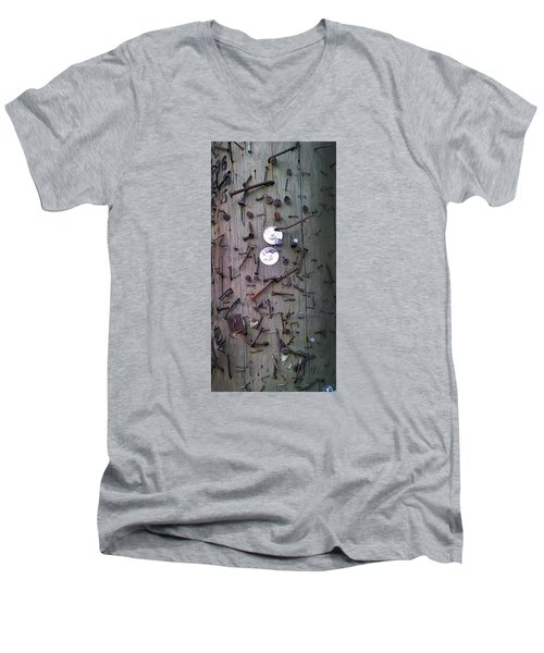 Men's V-Neck T-Shirt featuring the photograph Nailed It by Steve Sperry