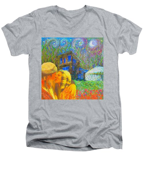Nalnee And James Men's V-Neck T-Shirt
