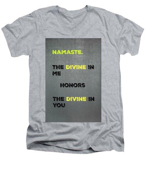 Namaste #4 Men's V-Neck T-Shirt