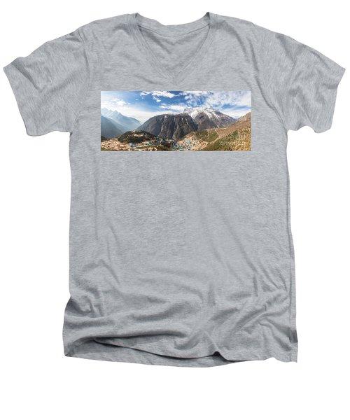 Namche Bazar Panorama Men's V-Neck T-Shirt