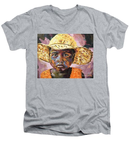Madagascar Farm Girl Men's V-Neck T-Shirt