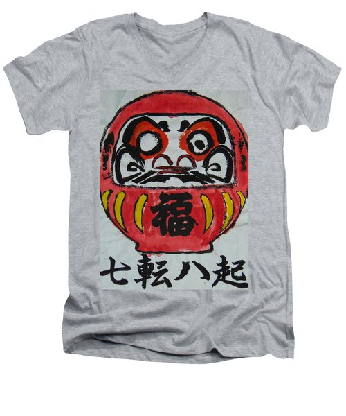 Nana Korobi Ya Oki Men's V-Neck T-Shirt