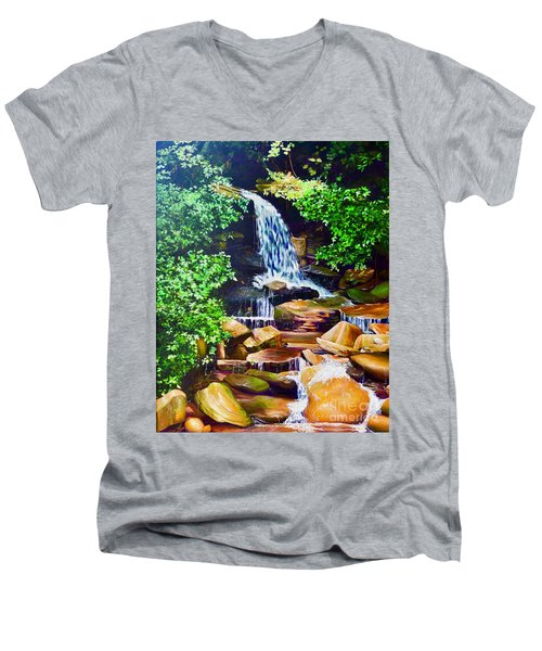 Nantahala Waterfall Men's V-Neck T-Shirt