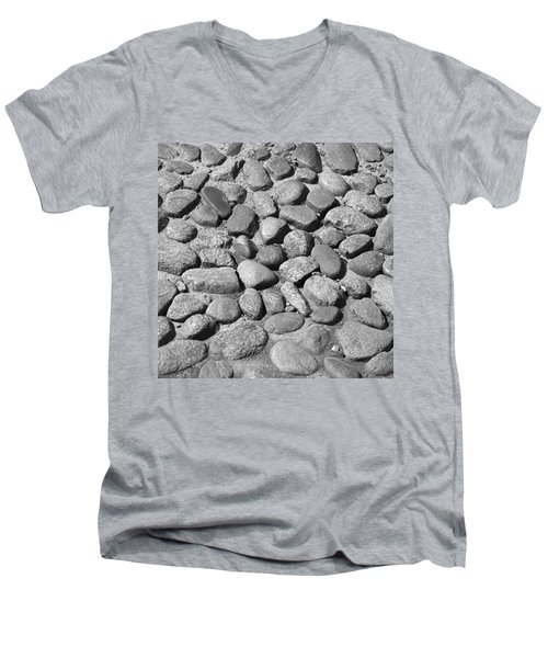 Nantucket Cobblestones Men's V-Neck T-Shirt by Charles Harden