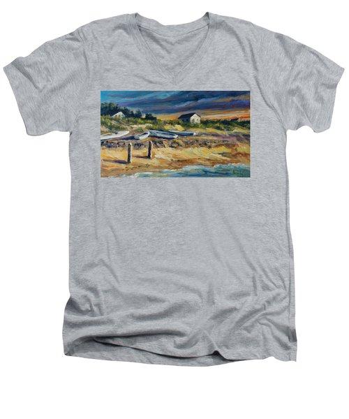 Nantucket Men's V-Neck T-Shirt by Rick Nederlof