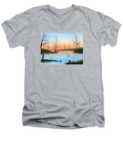Nap Time Men's V-Neck T-Shirt