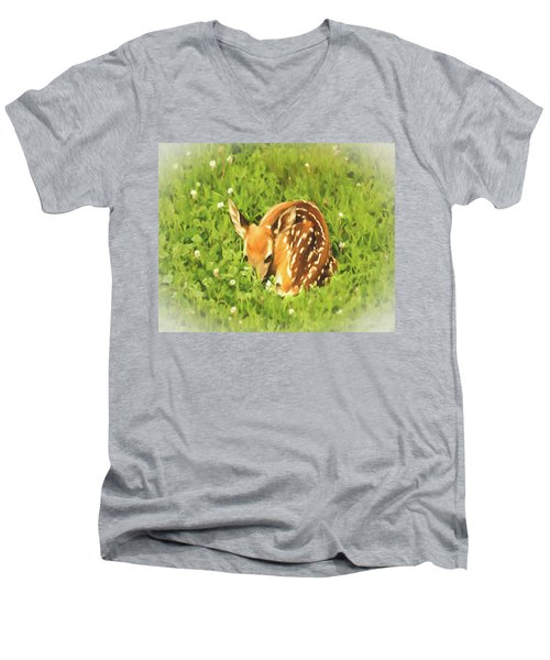Men's V-Neck T-Shirt featuring the photograph Nap Time by Mark Allen