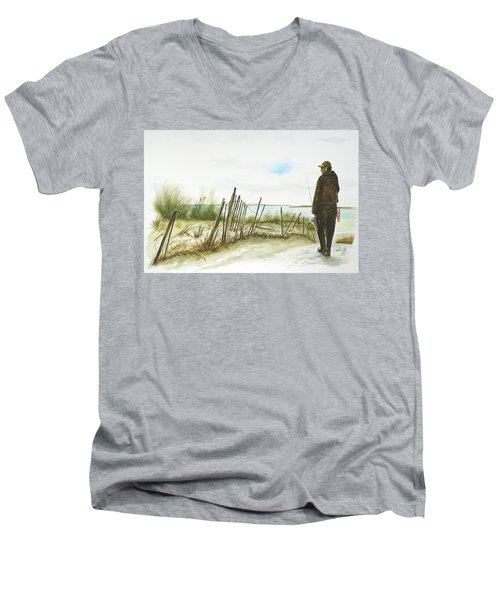 Napatree Point Watch Hill, Ri Men's V-Neck T-Shirt
