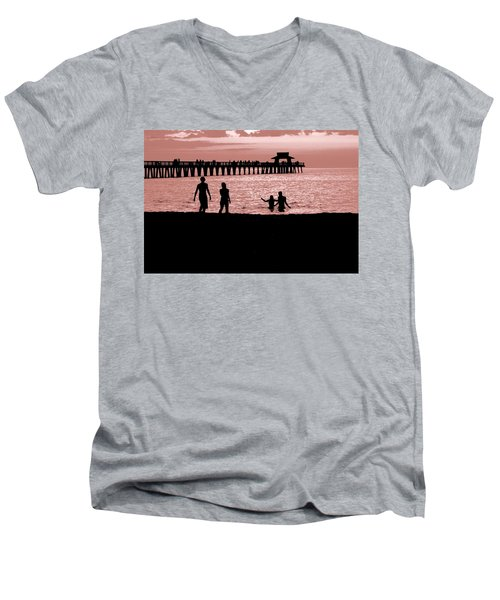 Naples Florida Sunset Men's V-Neck T-Shirt