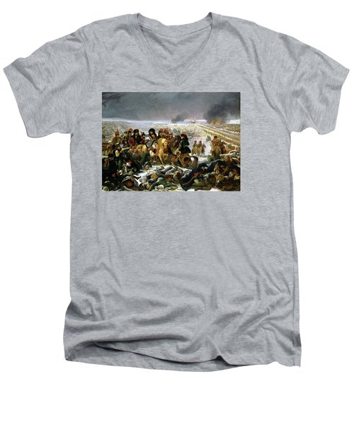 Men's V-Neck T-Shirt featuring the painting Napoleon At Eylau  by Antoine Jean Gros