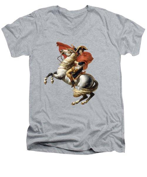 Napoleon Bonaparte On Horseback Men's V-Neck T-Shirt