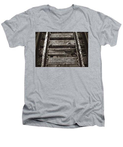 Narrow Gauge Tracks #photography #art #trains Men's V-Neck T-Shirt