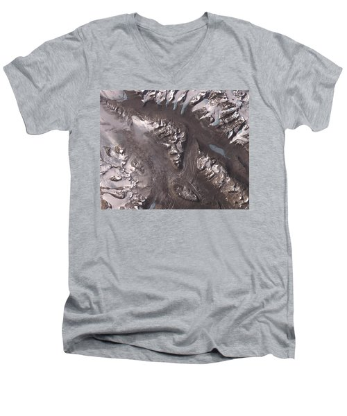 Nasa Image-dry Valleys, Antarctica-2 Men's V-Neck T-Shirt