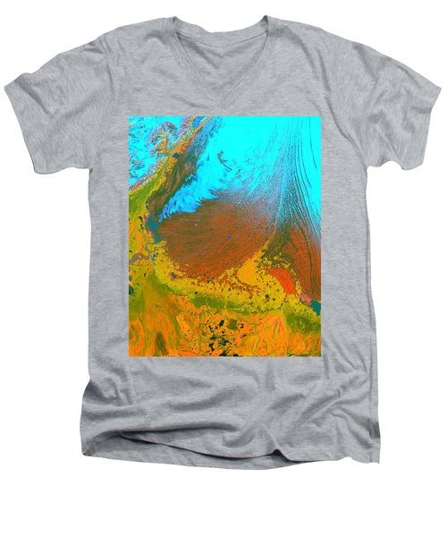 Nasa Image-malaspina Glacier, Alaska-glacier-2 Men's V-Neck T-Shirt