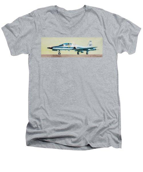Nasa T-38 Talon Men's V-Neck T-Shirt