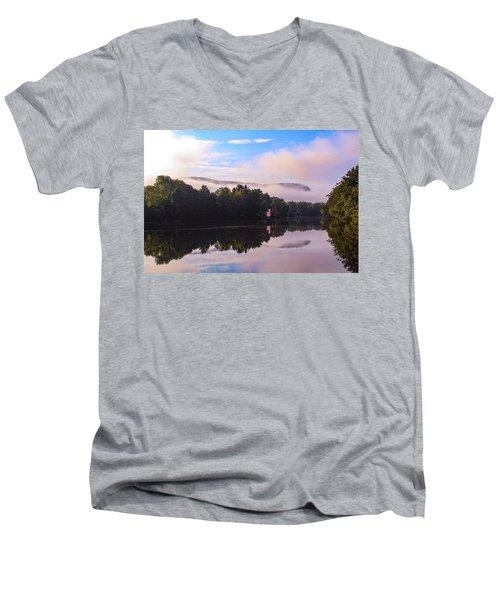 Nashawannuck Pond, Easthampton, Ma Men's V-Neck T-Shirt