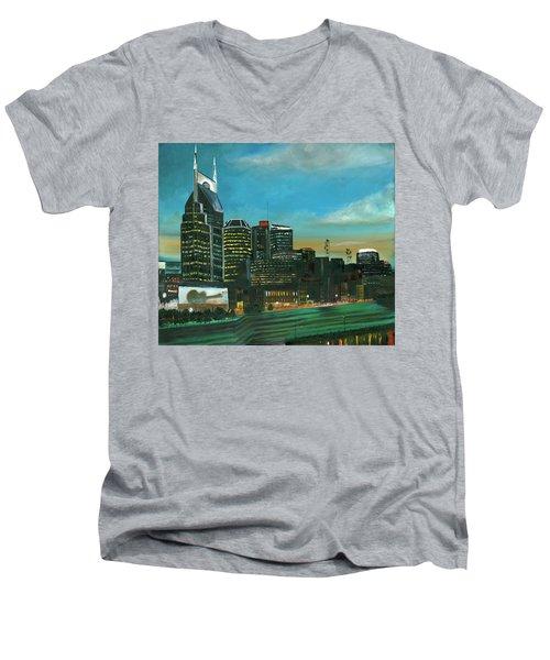 Nashville At Dusk Men's V-Neck T-Shirt