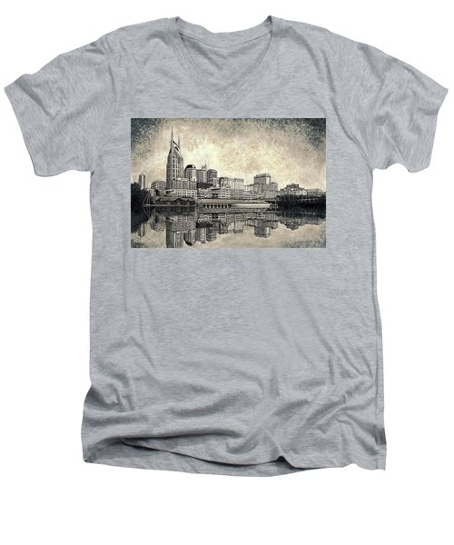 Nashville Skyline II Men's V-Neck T-Shirt