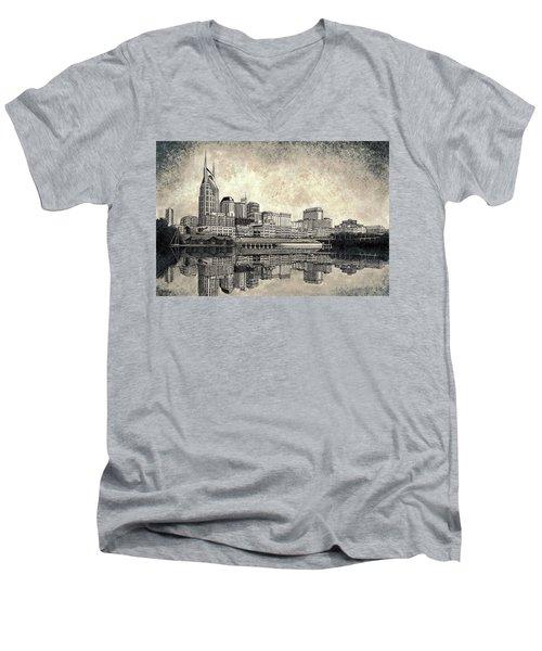 Nashville Skyline II Men's V-Neck T-Shirt