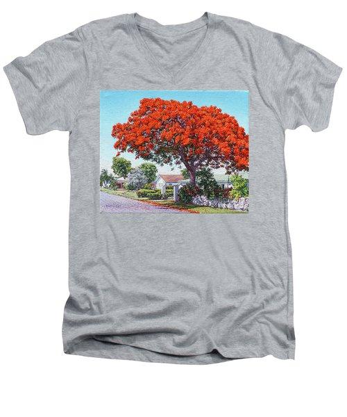 Nassau East Blvd.  Men's V-Neck T-Shirt