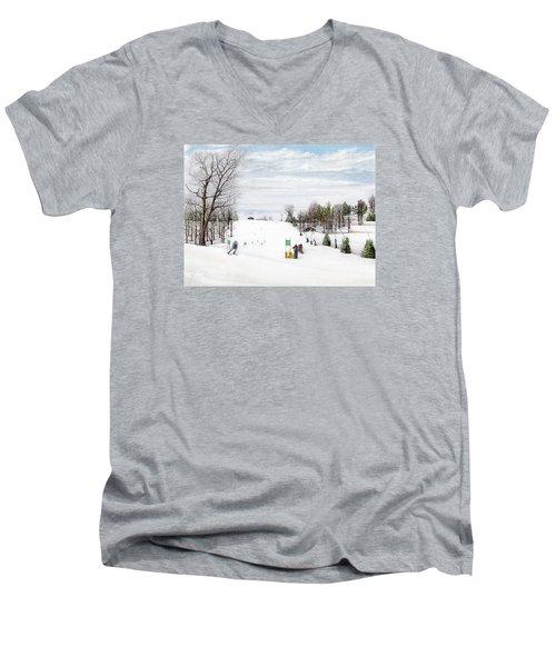 Nastar At Seven Springs Mountain Resort Men's V-Neck T-Shirt by Albert Puskaric
