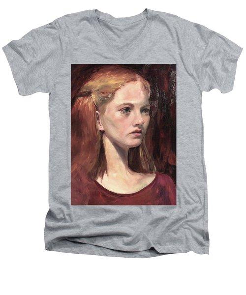 Natalie Men's V-Neck T-Shirt