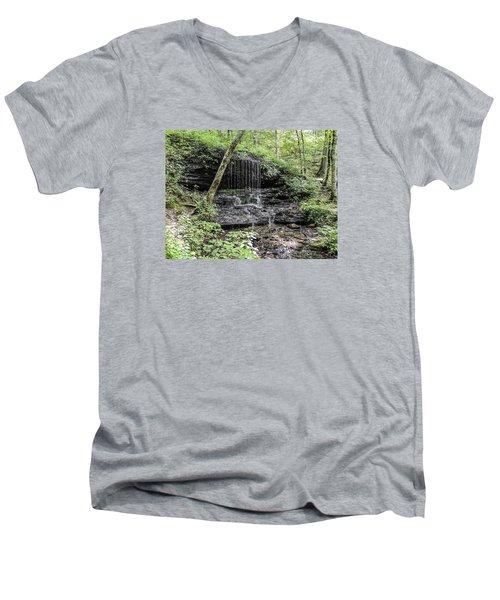 Natchez Trace Waterfall Men's V-Neck T-Shirt