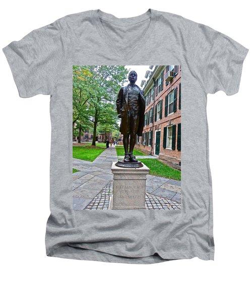 Nathan Hale Men's V-Neck T-Shirt