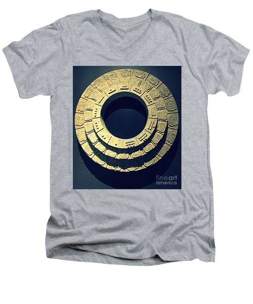 National Museum Of The American Indian 10 Men's V-Neck T-Shirt by Randall Weidner