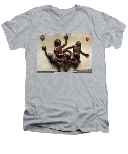 National Museum Of The American Indian 6 Men's V-Neck T-Shirt by Randall Weidner