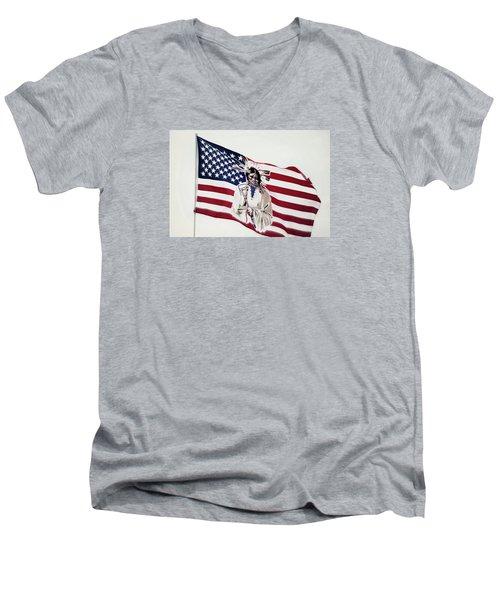 Native American Flag Men's V-Neck T-Shirt