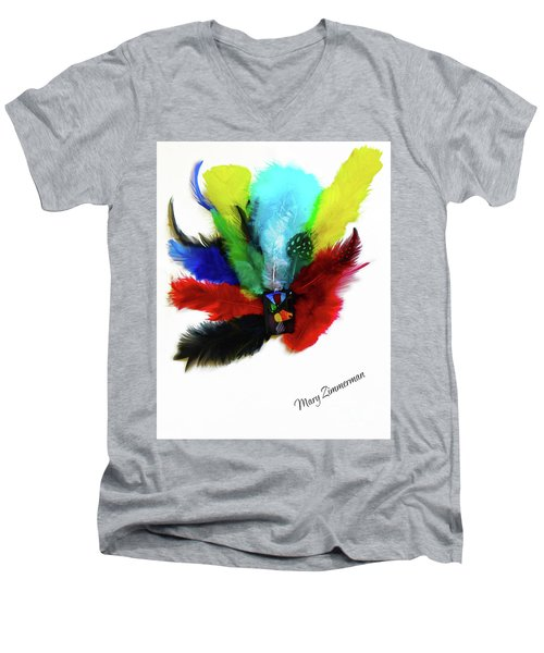 Native American Tribal Feathers Men's V-Neck T-Shirt