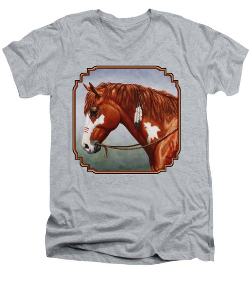 Native American War Horse Phone Case Men's V-Neck T-Shirt