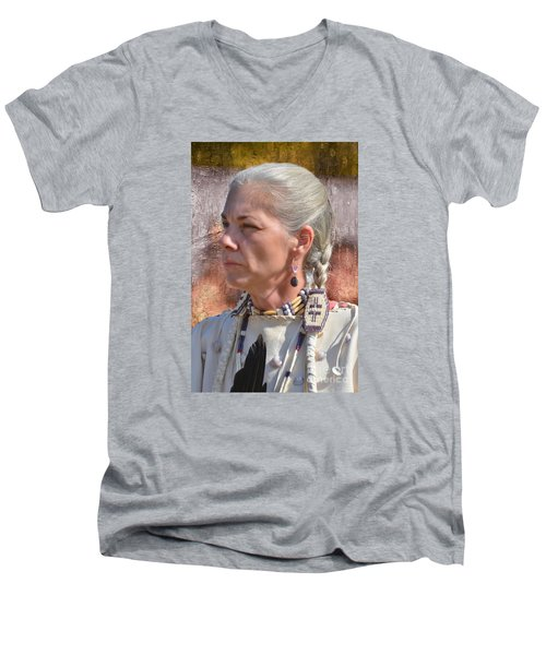 Native American Woman Men's V-Neck T-Shirt
