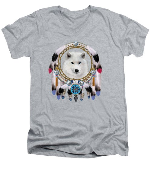 Native Indian Wolf Spirit Men's V-Neck T-Shirt